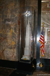 Replica of Empire State Building in New York in the lobby.jpg