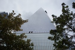 One World Trade Center down up view from 9-11 Memorial North Pool NYC.jpg