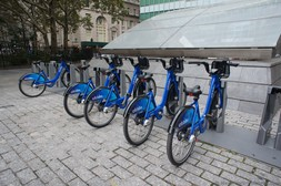Citi Bikes rental station Bowling Green Manhattan New York.jpg