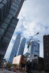 Skyscrapers of Manhattan New York as viewed from W 45 St and 11 Ave.jpg