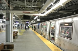 PATH Trains at World Trade Center station New York City.jpg