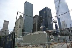 Construction abound at World Trade Center area New York City.jpg
