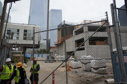 Construction crew at work at World Trade Center site October 2013 Manhattan NYC.jpg