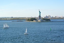 Sailboats in the waters around Statue of Liberty.jpg