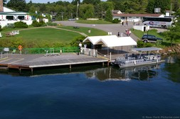 Gananoque Boat docking area in Ivy Lea Canada.jpg