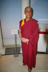 The Dalai Lama wax figure at Madame Tussauds in New York