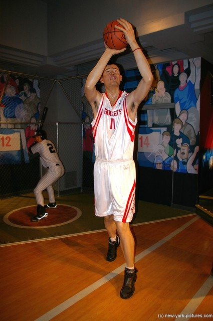 Yao Ming wax statue at Madame Tussauds in New York.jpg