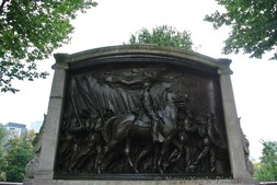 Civil War Shaw-54th Regiment Memorial outside of Boston Common.jpg