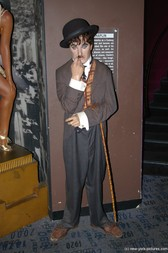 Charlie Chaplin wax figure at Madame Tussauds in New York