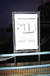 1885 Schooner Pioneer sign at Pier 17 South Street Seaport in Manhattan.jpg