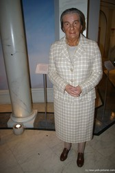 Golda Meir wax figure at Madame Tussauds in New York