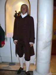 Benjamin Franklin wax figure at Madame Tussauds in New York.jpg